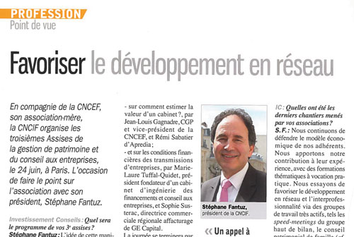 Favoriser son developpement en reseau